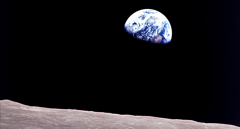 Earth as seen from the Moon