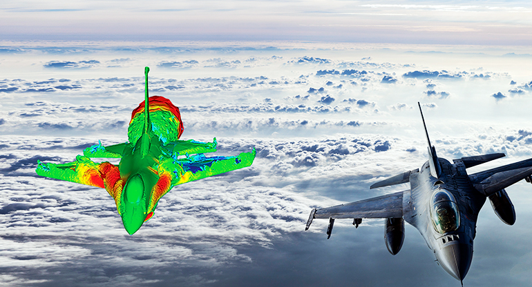 HPC CFD of fighter jet