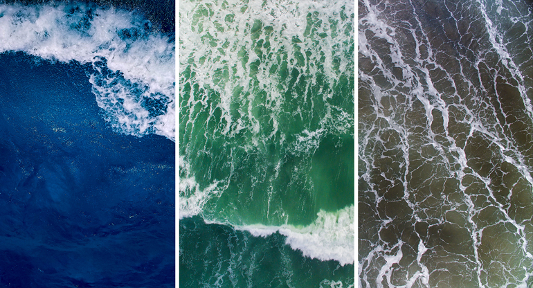 pictures of waves in different colors